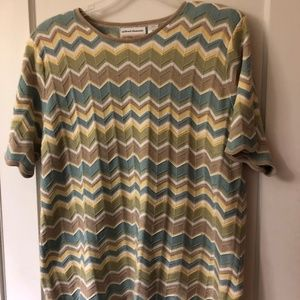 ALFRED DUNNER  SHORT SLEEVE SWEATER - SIZE 2X
